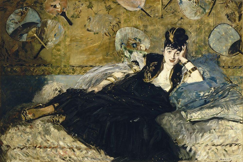 konfigurieren des Kunstdrucks in Wunschgröße Woman with Fans von Manet, Edouard