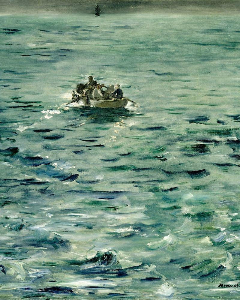 konfigurieren des Kunstdrucks in Wunschgröße Rocheforts Escape von Manet, Edouard