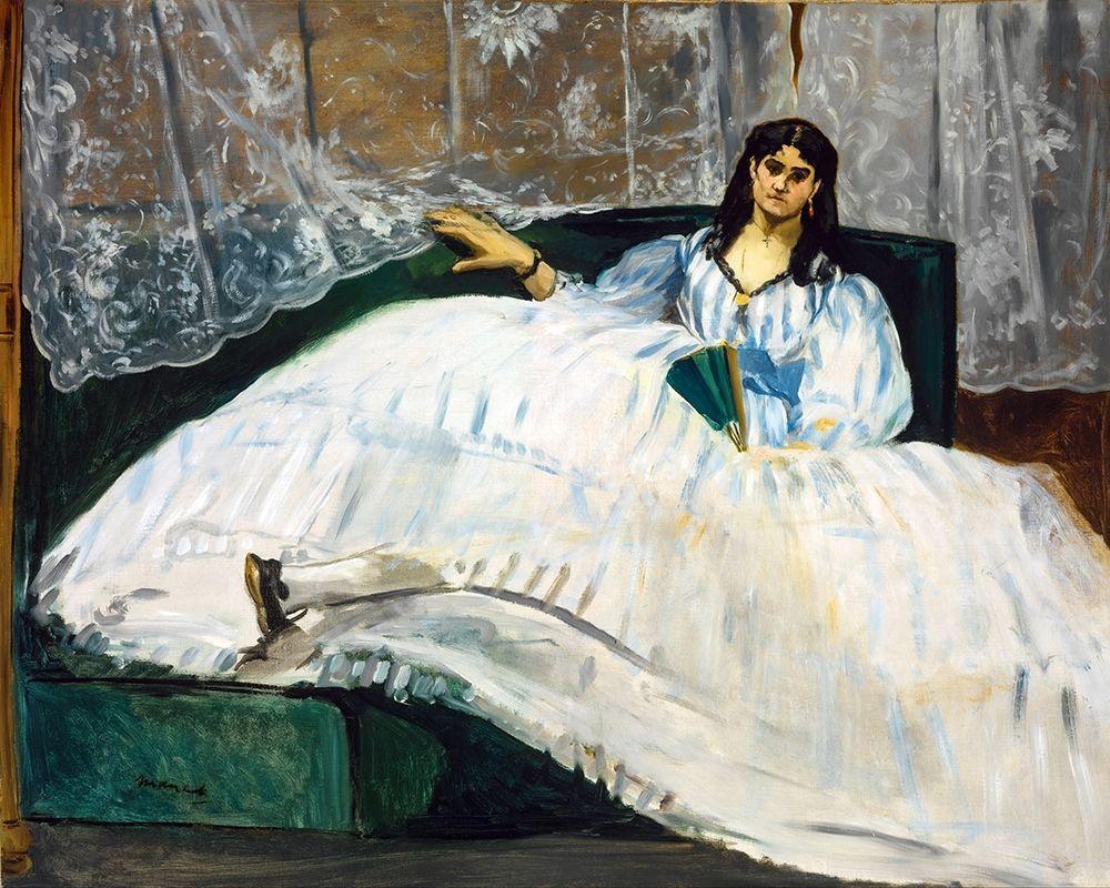 konfigurieren des Kunstdrucks in Wunschgröße Woman with a Fan von Manet, Edouard