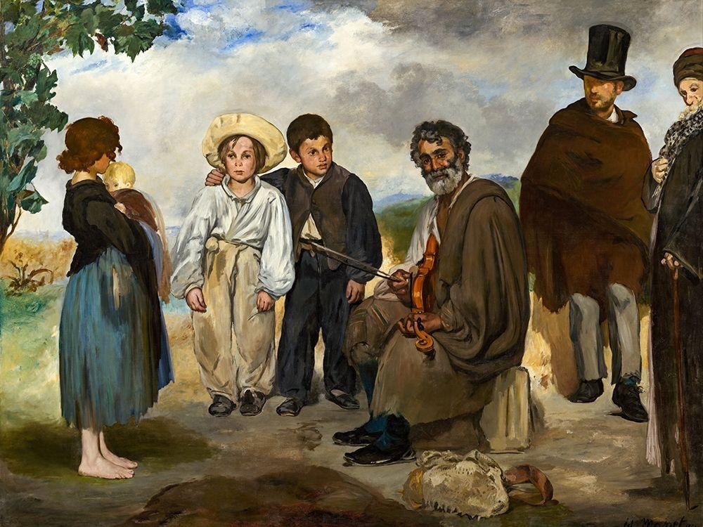 konfigurieren des Kunstdrucks in Wunschgröße The Old Musician von Manet, Edouard