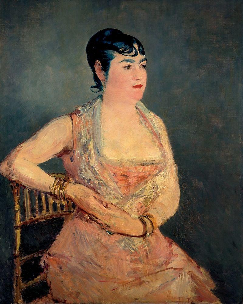 konfigurieren des Kunstdrucks in Wunschgröße Lady in Pink von Manet, Edouard
