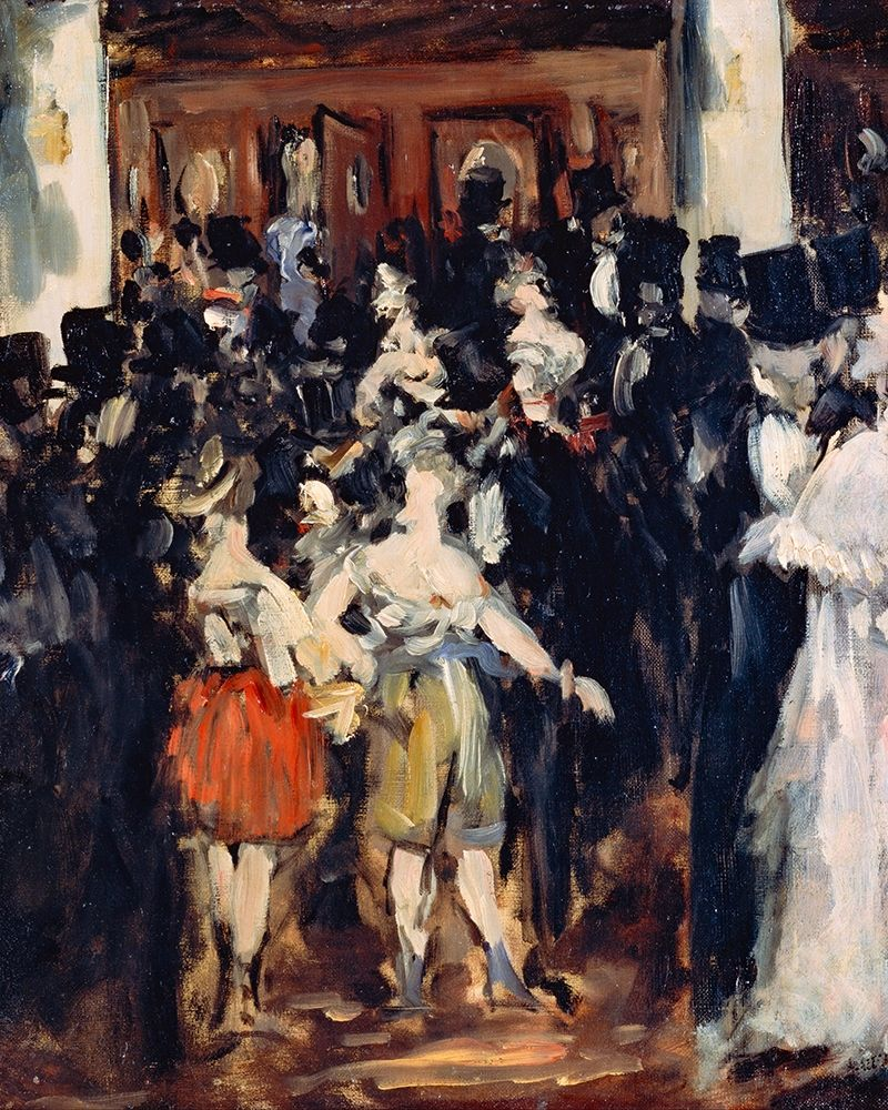 konfigurieren des Kunstdrucks in Wunschgröße Masked Ball at the Opera von Manet, Edouard