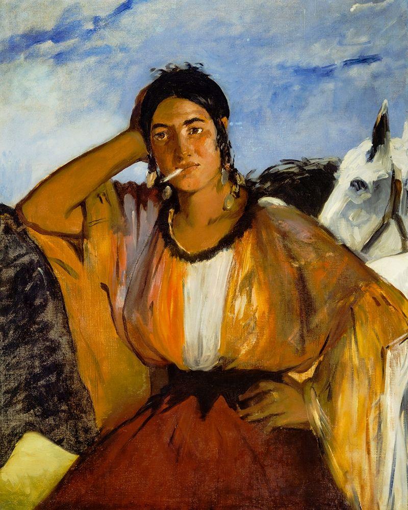 konfigurieren des Kunstdrucks in Wunschgröße Gypsy with a Cigarette von Manet, Edouard