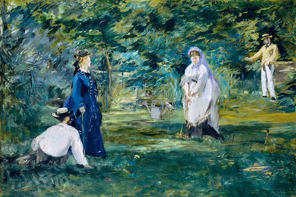 konfigurieren des Kunstdrucks in Wunschgröße A game of croquet von Manet, Edouard