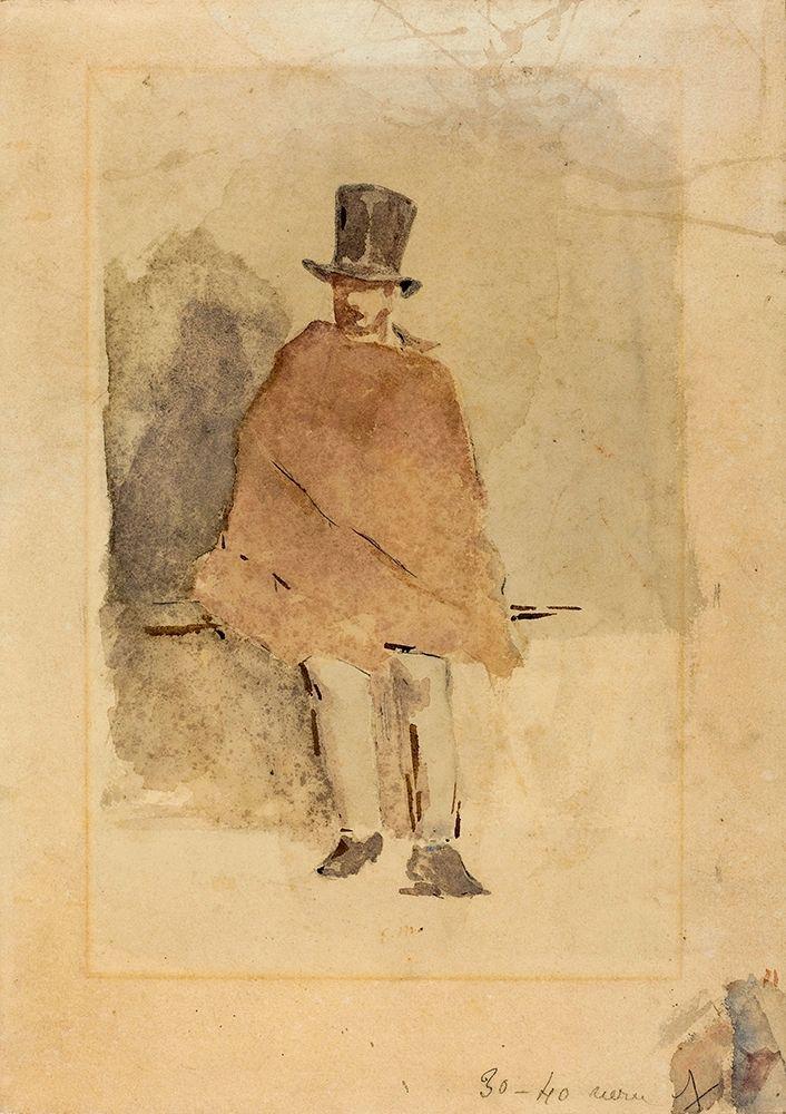 konfigurieren des Kunstdrucks in Wunschgröße The Man in the Tall Hat von Manet, Edouard