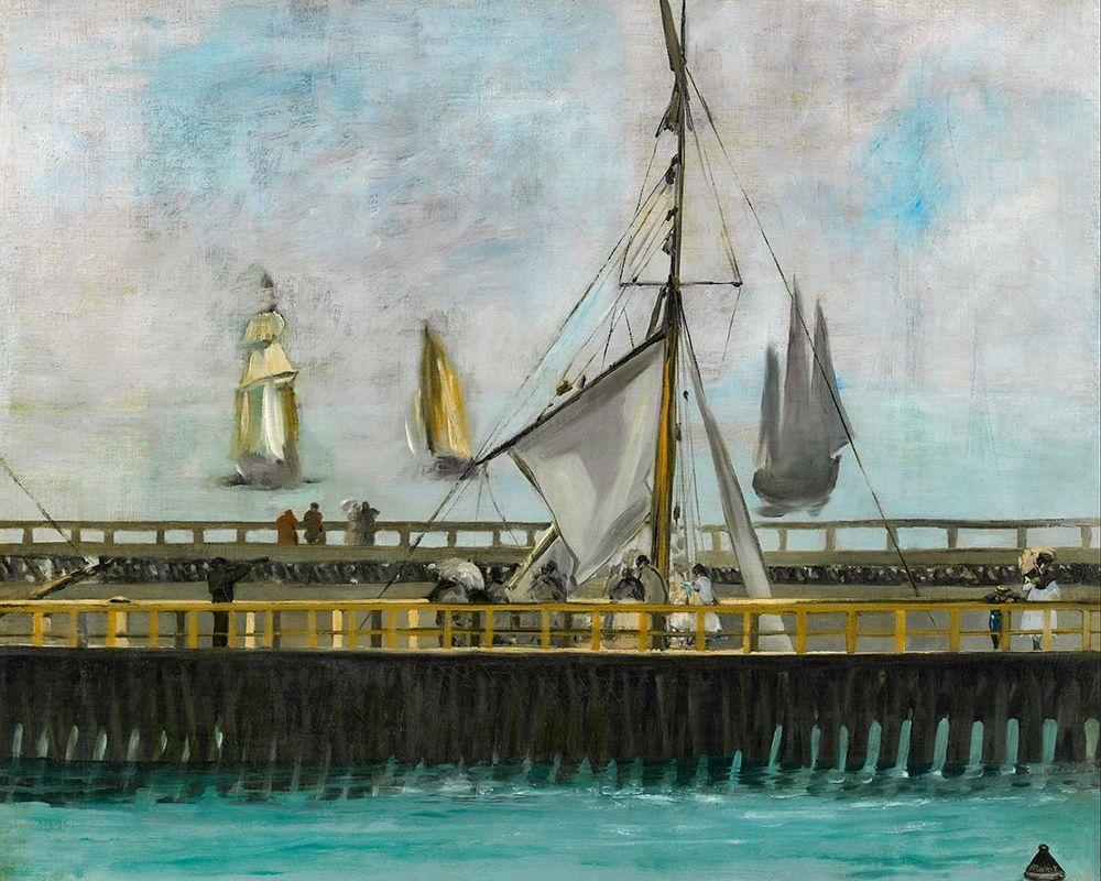 konfigurieren des Kunstdrucks in Wunschgröße The jetty of Boulogne-sur-Mer von Manet, Edouard