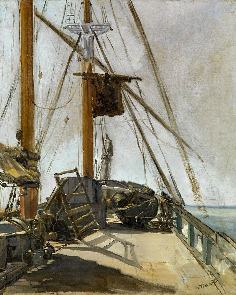 konfigurieren des Kunstdrucks in Wunschgröße The ships deck von Manet, Edouard