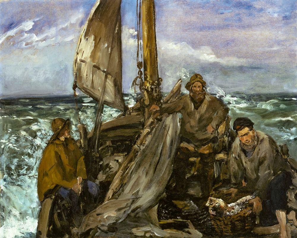 konfigurieren des Kunstdrucks in Wunschgröße The Toilers of the Sea von Manet, Edouard