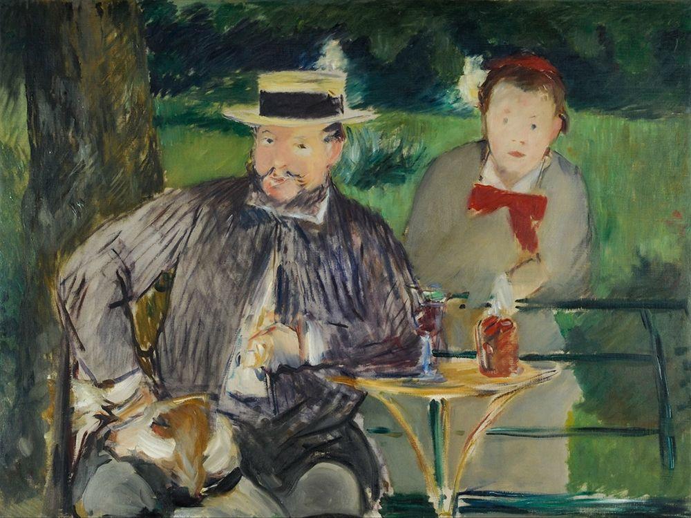 konfigurieren des Kunstdrucks in Wunschgröße Portrait dErnest Hosched├® et sa fille Marthe von Manet, Edouard