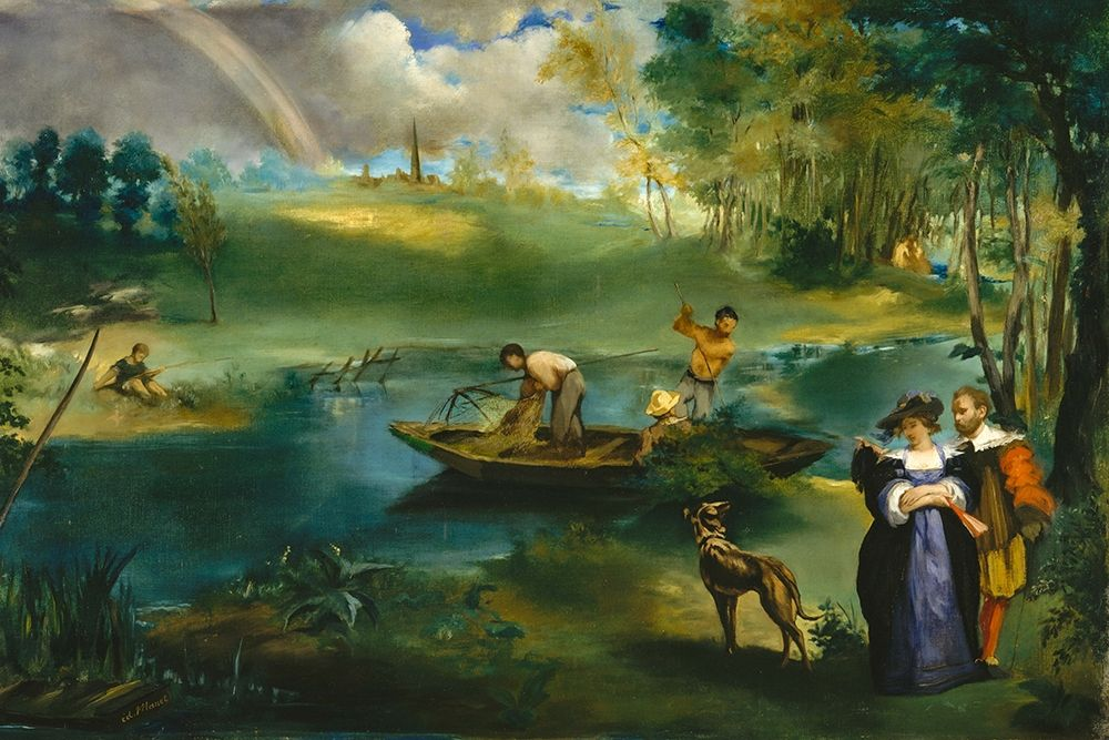konfigurieren des Kunstdrucks in Wunschgröße Fishing von Manet, Edouard