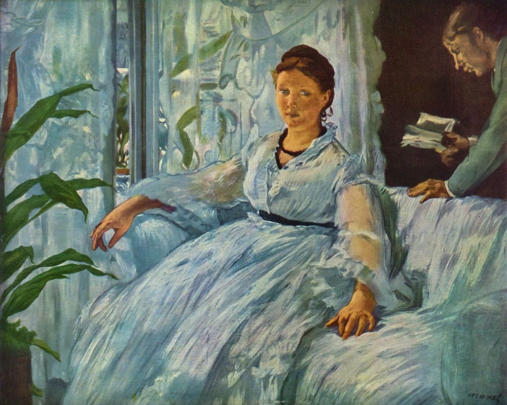 konfigurieren des Kunstdrucks in Wunschgröße The Reading von Manet, Edouard