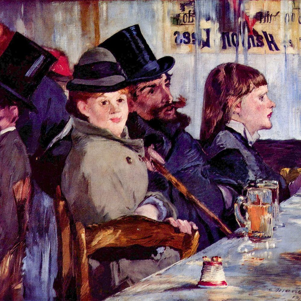 konfigurieren des Kunstdrucks in Wunschgröße In the cafe Cabaret from Reichshoffen von Manet, Edouard
