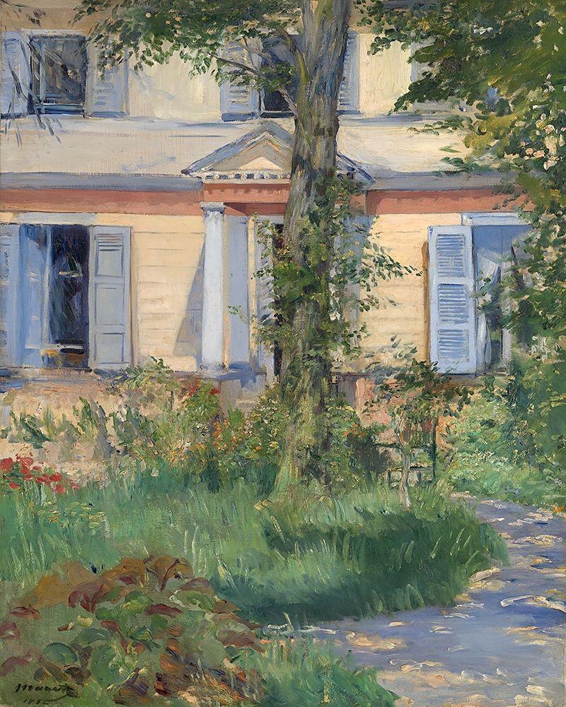 konfigurieren des Kunstdrucks in Wunschgröße House in Rueil von Manet, Edouard