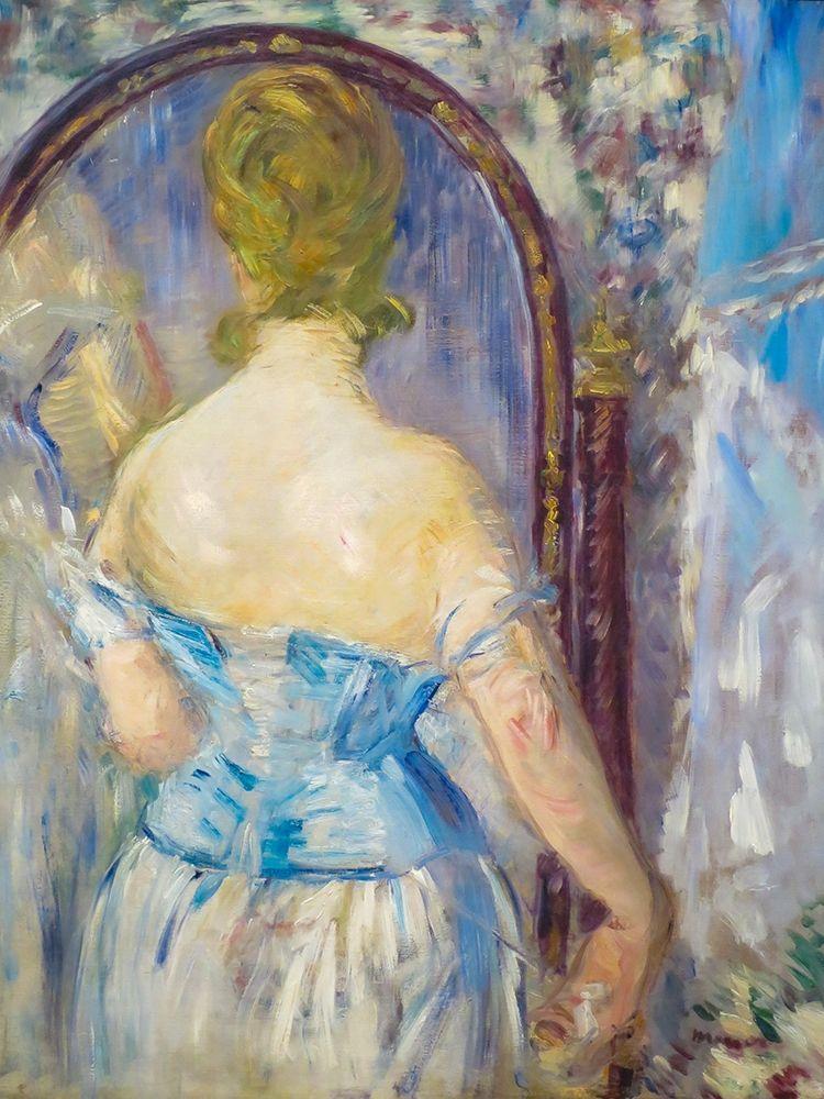 konfigurieren des Kunstdrucks in Wunschgröße Woman Before a Mirror von Manet, Edouard