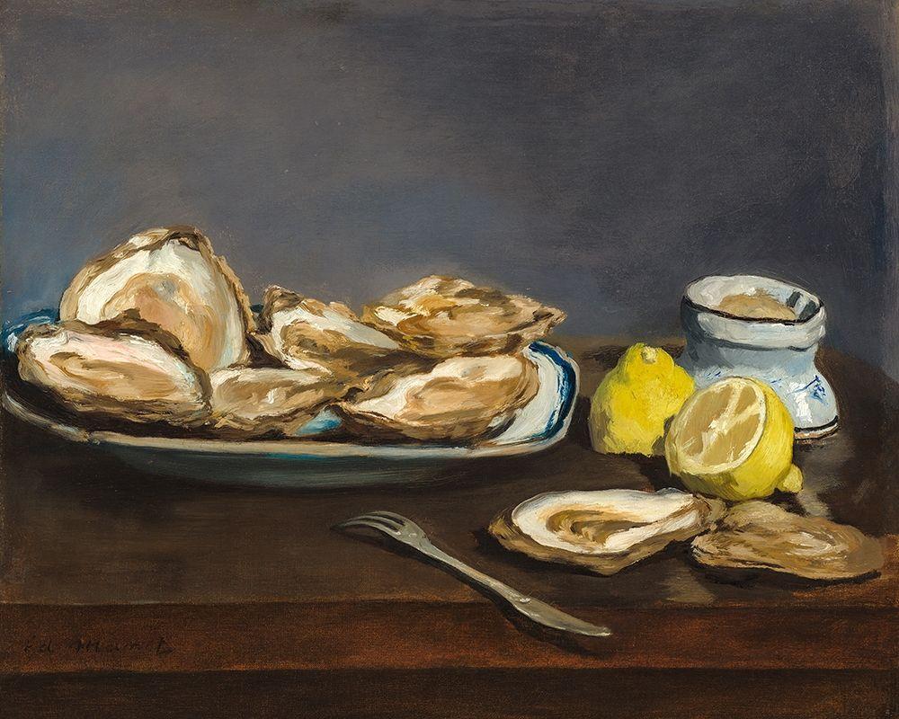 konfigurieren des Kunstdrucks in Wunschgröße Oysters von Manet, Edouard