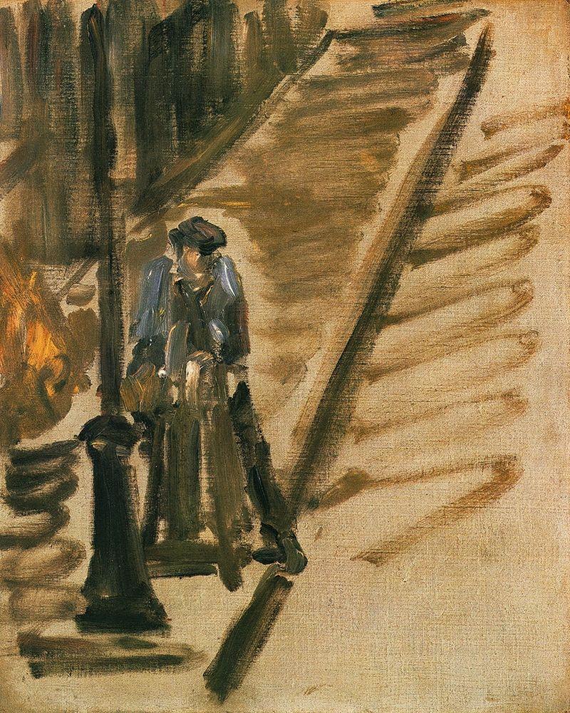konfigurieren des Kunstdrucks in Wunschgröße Rue Mossnier with Knife Grinder von Manet, Edouard