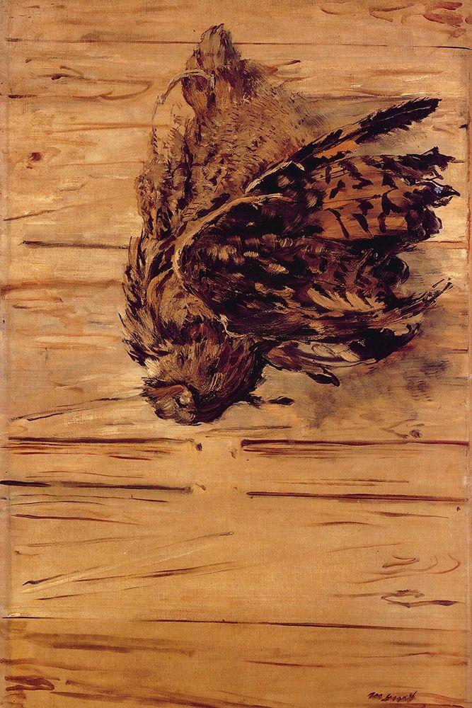 konfigurieren des Kunstdrucks in Wunschgröße Dead Eagle Owl von Manet, Edouard