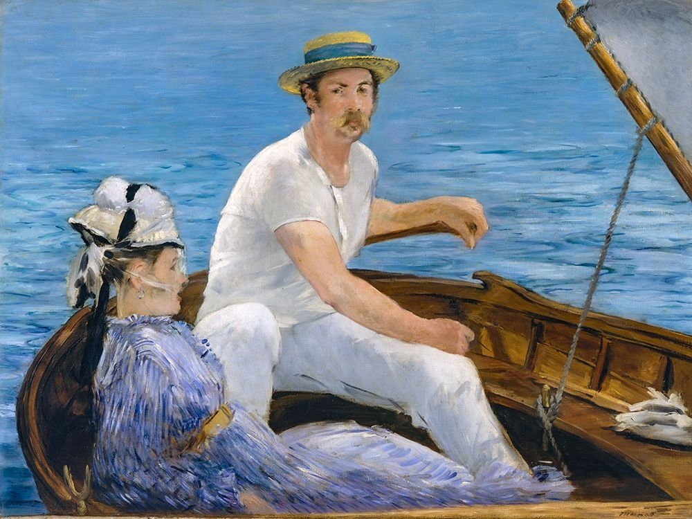 konfigurieren des Kunstdrucks in Wunschgröße Boating von Manet, Edouard