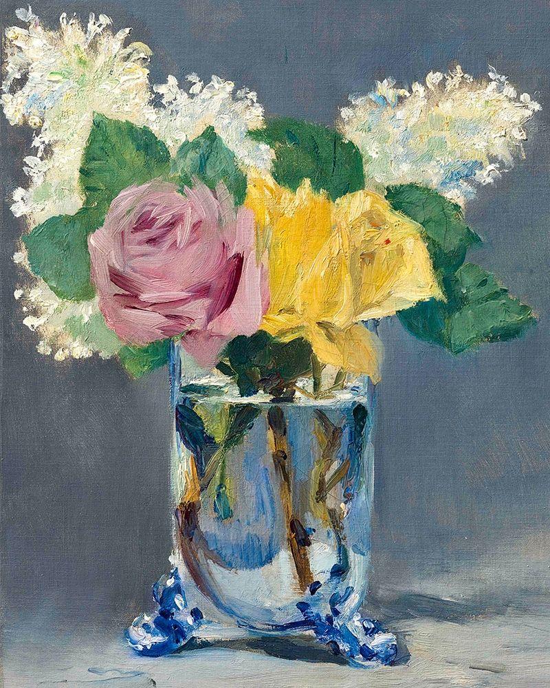 konfigurieren des Kunstdrucks in Wunschgröße Lilas et roses von Manet, Edouard