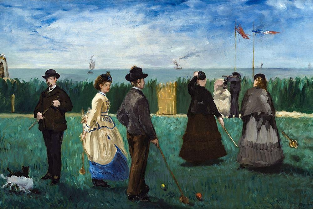 konfigurieren des Kunstdrucks in Wunschgröße The Croquet Party von Manet, Edouard