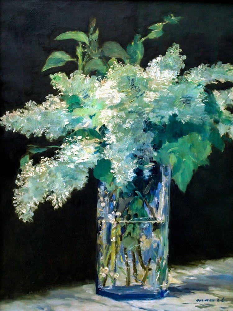 konfigurieren des Kunstdrucks in Wunschgröße White Lilac von Manet, Edouard