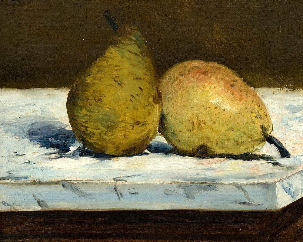 konfigurieren des Kunstdrucks in Wunschgröße Pears von Manet, Edouard