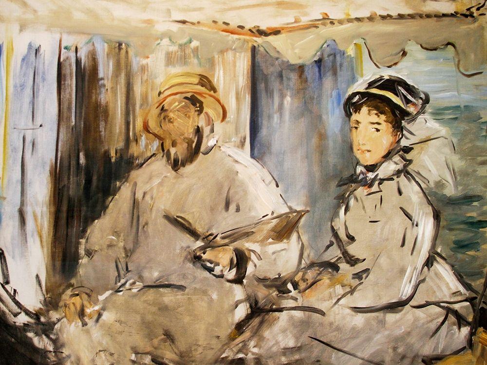 konfigurieren des Kunstdrucks in Wunschgröße Monet in his Studio von Manet, Edouard
