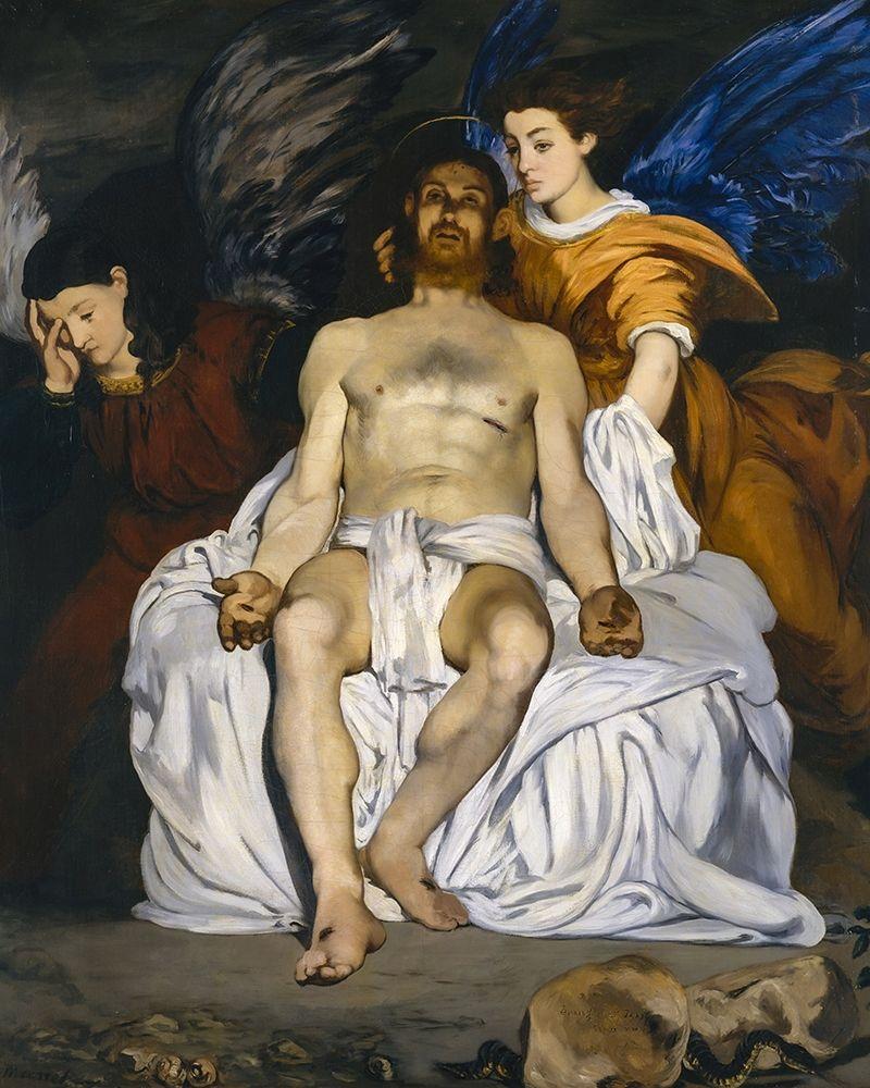 konfigurieren des Kunstdrucks in Wunschgröße The Dead Christ with Angels von Manet, Edouard