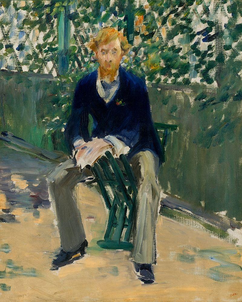 konfigurieren des Kunstdrucks in Wunschgröße George Moore in the Artists Garden von Manet, Edouard