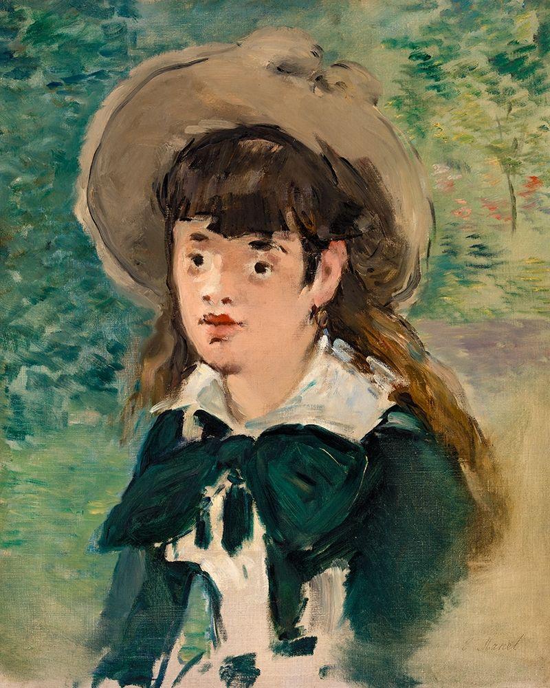 konfigurieren des Kunstdrucks in Wunschgröße Young Girl on a Bench von Manet, Edouard