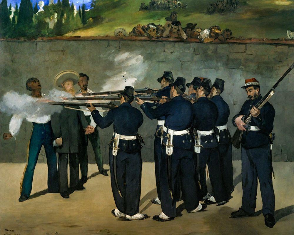 konfigurieren des Kunstdrucks in Wunschgröße The Execution of Emperor Maximilian of Mexico, June 19, 1867 von Manet, Edouard