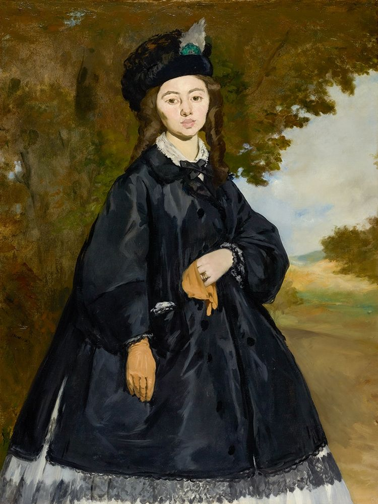 konfigurieren des Kunstdrucks in Wunschgröße Portrait of Madame Brunet von Manet, Edouard