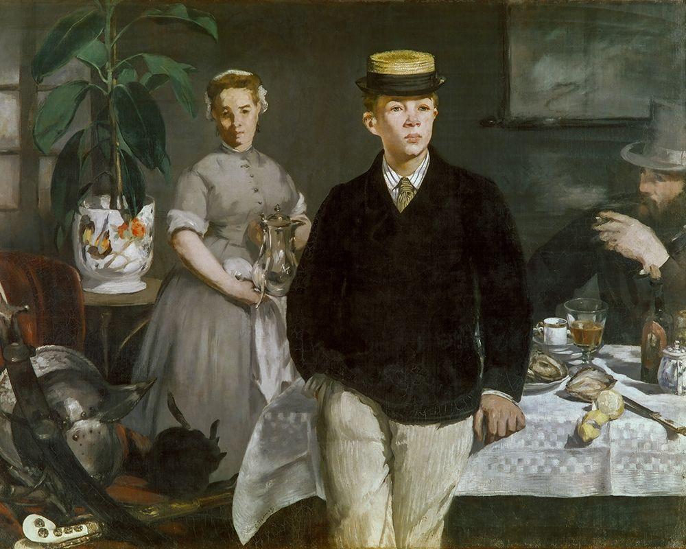 konfigurieren des Kunstdrucks in Wunschgröße Luncheon in the Studio von Manet, Edouard