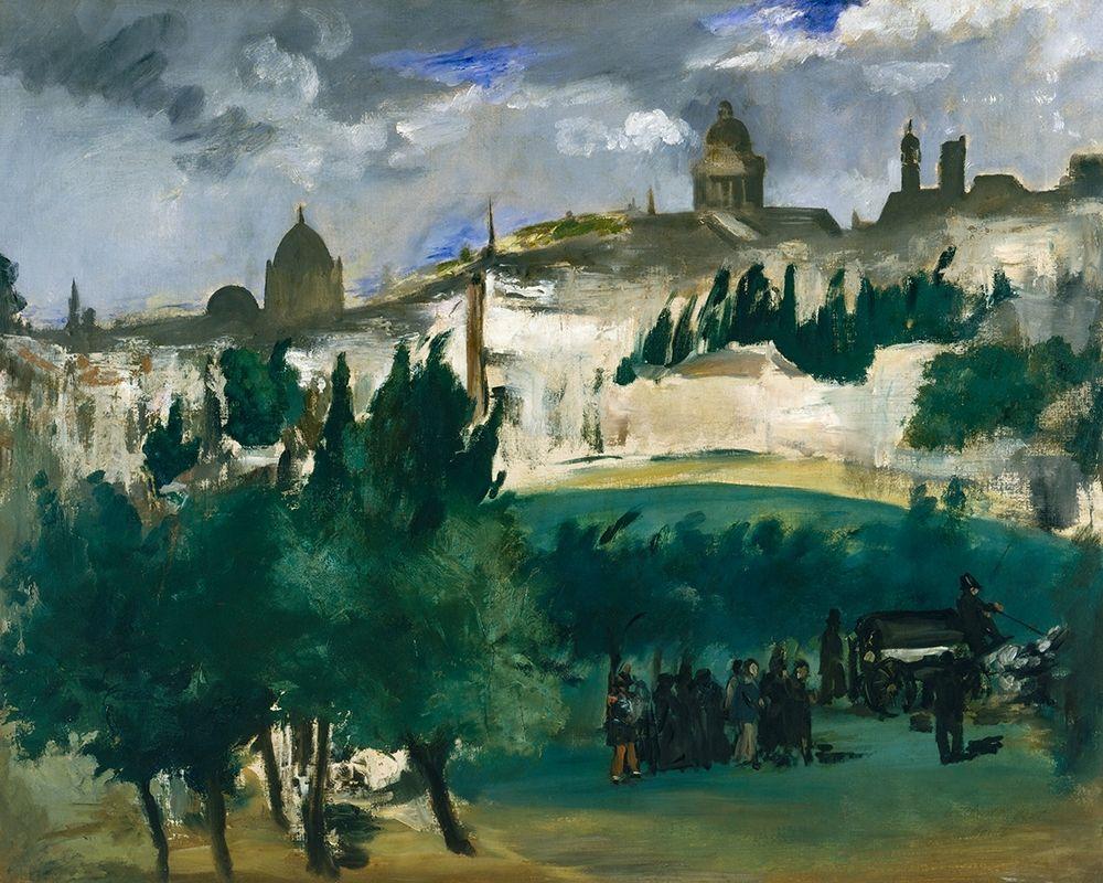 konfigurieren des Kunstdrucks in Wunschgröße The Funeral von Manet, Edouard