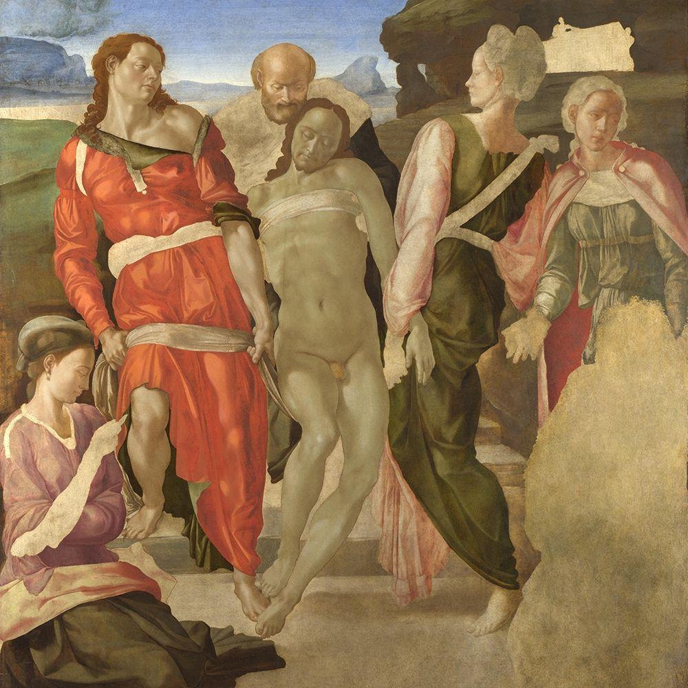 konfigurieren des Kunstdrucks in Wunschgröße The Entombment von Michelangelo