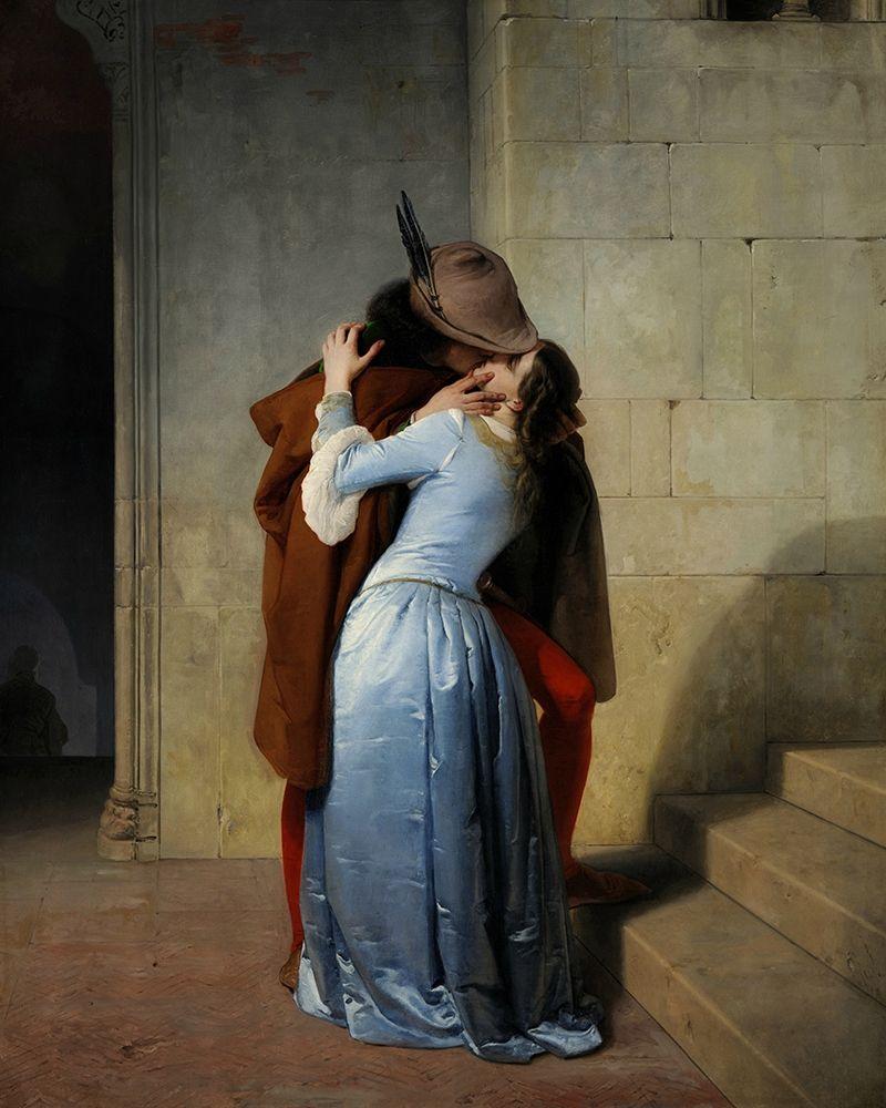 konfigurieren des Kunstdrucks in Wunschgröße The Kiss von Hayez, Francesco
