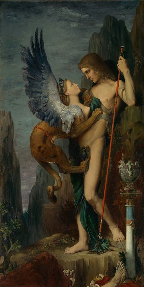 konfigurieren des Kunstdrucks in Wunschgröße Oedipus and the Sphinx von Moreau, Gustave