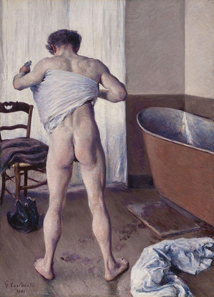 konfigurieren des Kunstdrucks in Wunschgröße Homme au bain von Caillebotte, Gustave