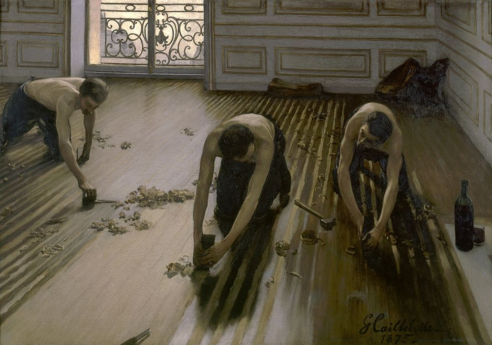konfigurieren des Kunstdrucks in Wunschgröße Les raboteurs de parquet von Caillebotte, Gustave