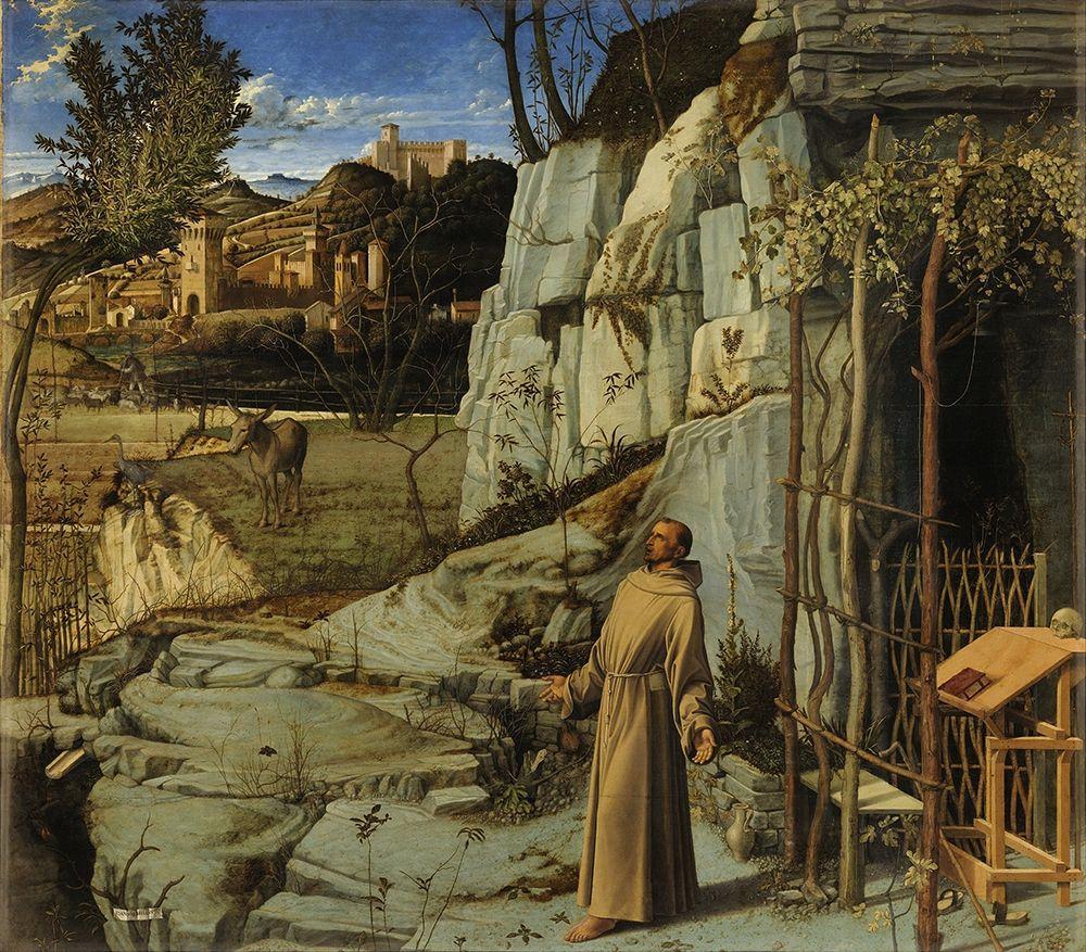 konfigurieren des Kunstdrucks in Wunschgröße St. Francis in Ecstasy von Bellini, Giovanni