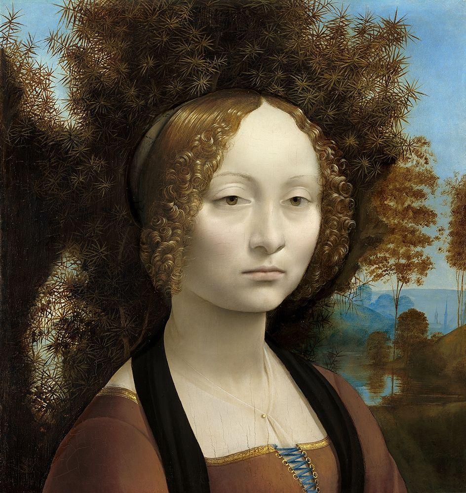 konfigurieren des Kunstdrucks in Wunschgröße Ginevra de'' Benci von Da Vinci, Leonardo