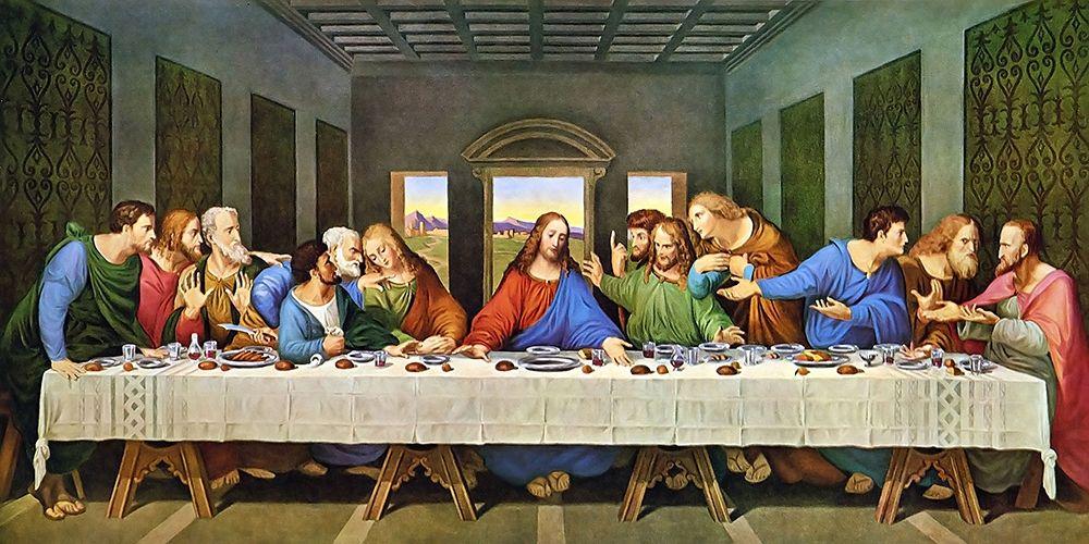 konfigurieren des Kunstdrucks in Wunschgröße The Last Supper Original von Da Vinci, Leonardo