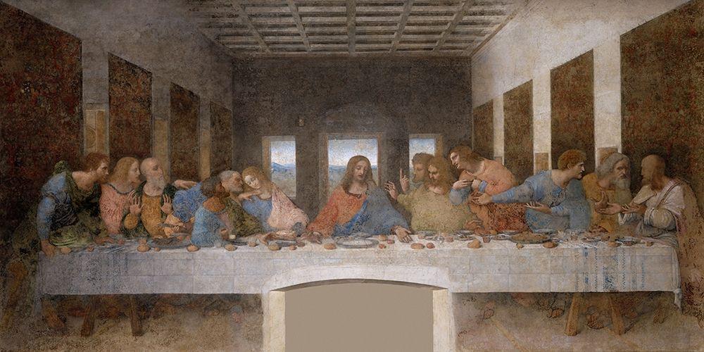 konfigurieren des Kunstdrucks in Wunschgröße The Last Supper Restored von Da Vinci, Leonardo