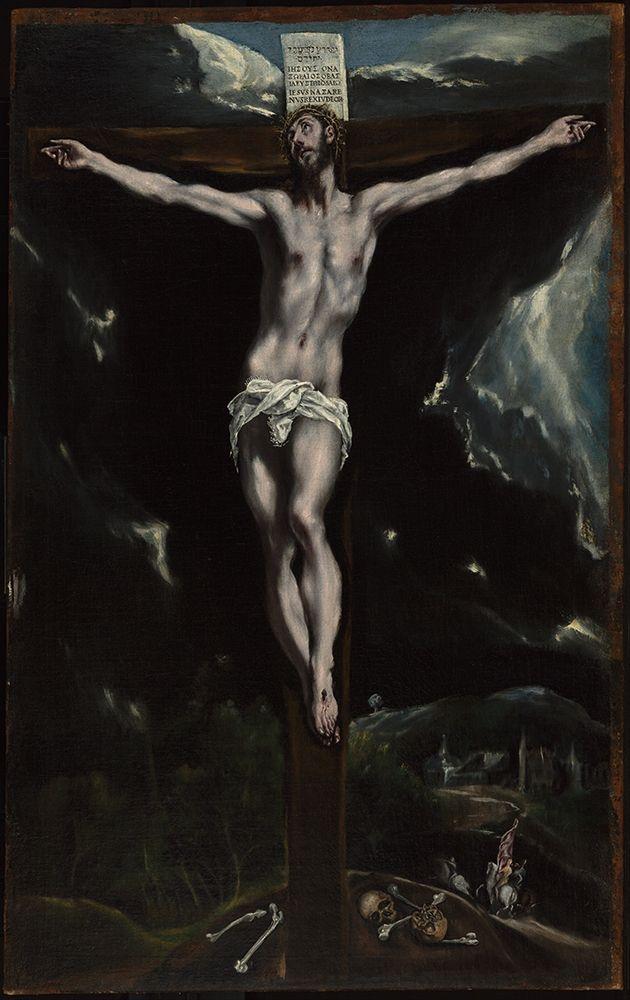 konfigurieren des Kunstdrucks in Wunschgröße Christ on the Cross von El Greco