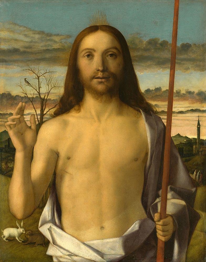 konfigurieren des Kunstdrucks in Wunschgröße Christ Blessing von Bellini, Giovanni
