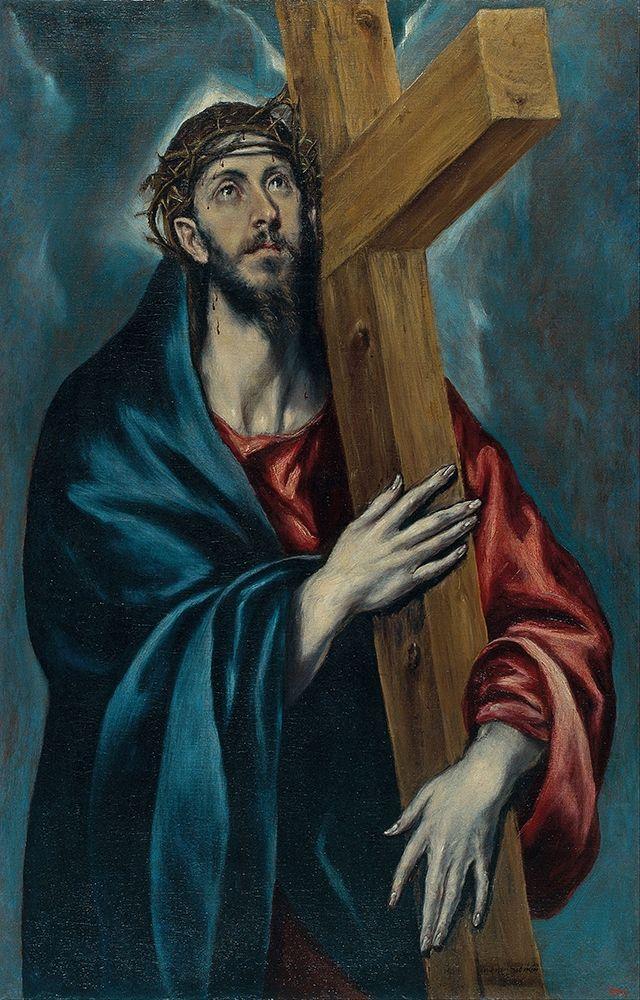 konfigurieren des Kunstdrucks in Wunschgröße Christ Carrying the Cross von El Greco