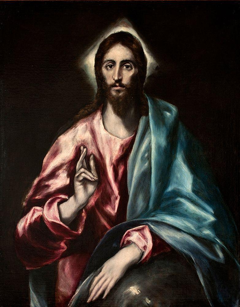 konfigurieren des Kunstdrucks in Wunschgröße Christ as Saviour von El Greco