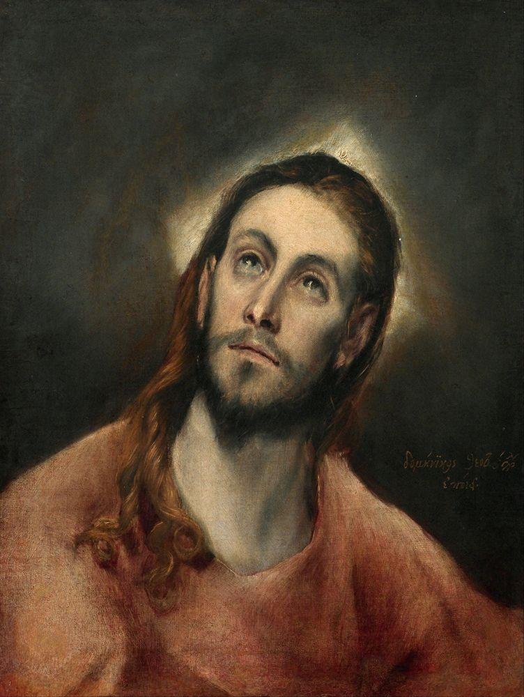 konfigurieren des Kunstdrucks in Wunschgröße Christ in Prayer von El Greco