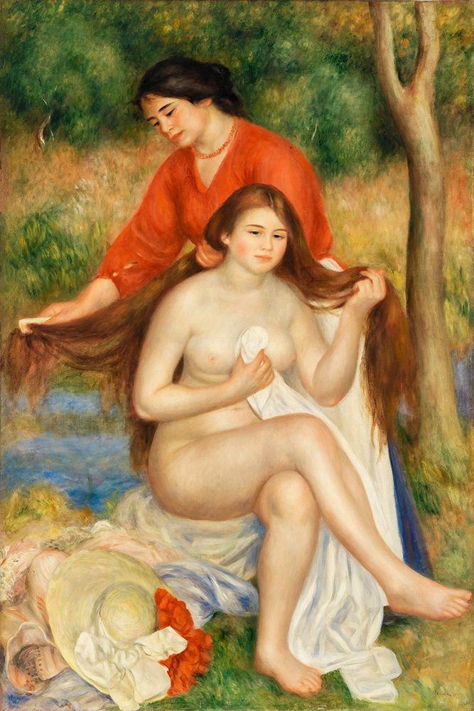 konfigurieren des Kunstdrucks in Wunschgröße Bather and Maid 1900ÔÇô1901 von Renoir, Pierre-Auguste