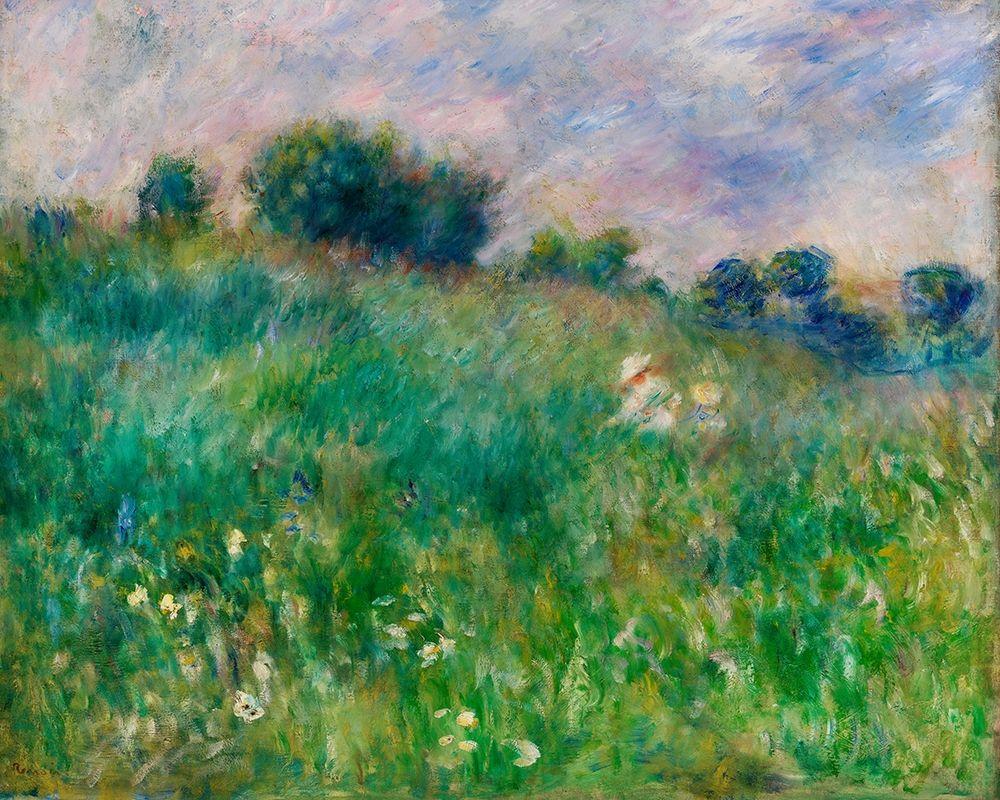 konfigurieren des Kunstdrucks in Wunschgröße Meadow 1880 von Renoir, Pierre-Auguste
